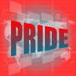 Royalty-Free Stock Photo: The word pride on digital screen