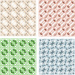 Damask seamless pattern set — Stock Photo