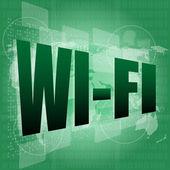 Wi fi word on digital screen — Stock Photo