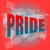 The word pride on digital screen — Stock Photo