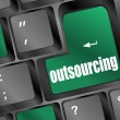 Foto Stock: Outsourcing key on laptop keyboard