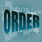 Orden en concepto de pantalla, negocios y tecnología digital — Foto de Stock
