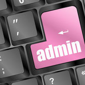 Admin button on a computer keyboard — Stock Photo