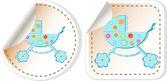 Kinderwagen babyaufkleber label-tag-satz — Stockfoto