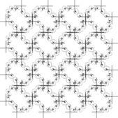 Ornamento geométrico monocromo transparente — Foto de Stock