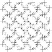 Ornamento geométrico monocromático sem emenda — Foto Stock