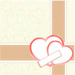 Pair of valentine heart on abstract background — 图库照片 #18392825