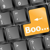 Boo button on computer keyboard showing error or mistake concept — Stock Photo