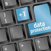 Botón de protección de datos en el teclado — Foto de Stock