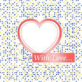 Saint valentine hjärta på retro mosaik bakgrund — Stockfoto
