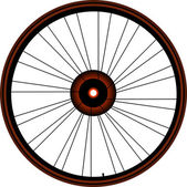 Bike wheel with tire and spokes isolated on white background — Stock Photo