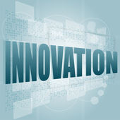 Innovation word on a touch screen interface — Stock Photo