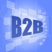 Word b2b on digital screen. business concept — Stockfoto