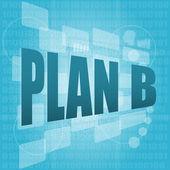 Plan b écrit sur l'écran numérique de l'ordinateur — Photo