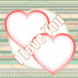 I love you, written on love heart abstract background — Stockfoto #18692295