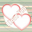 Stockfoto: I love you, written on love heart abstract background