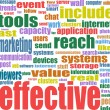 Social media marketing word cloud — Stock Photo