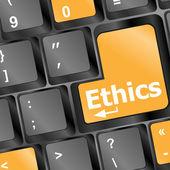 Een toetsenbord met een sleutel lezen ethiek — Stockfoto