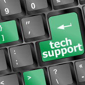 Tech support keyboard button — Stock Photo