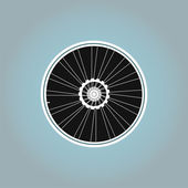 Bicycle wheel symbol on abstract background — Stock Photo
