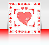 Valentine`s day party design template with place for text — Stock Photo