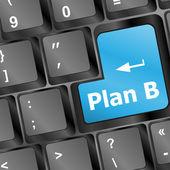Big blue button keypad Plan B — Stock Photo