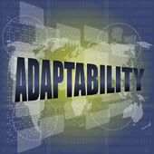 Adaptability word on digital screen. financial background — Stock Photo