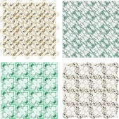 Seamless abstract pattern set for fabric and furniture — Stock Photo
