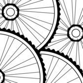Bicycle wheels background — Stock Photo