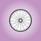 Aerodynamic front road or time trial wheel with tyre — Stock Photo
