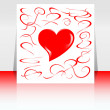 Beautiful background with hearts and place for text. Valentine — Stockfoto