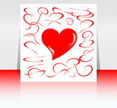 Beautiful background with hearts and place for text. Valentine — Stock Photo