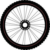 Bicycle wheel isolated on white — Stock Photo