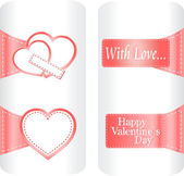 Paper heart stickers label tag set on white background — Stock Photo