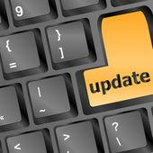 Computer toetsenbord afbeelding bereid voor de update — Stockfoto