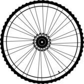 Cykelhjul isolerad på vit — Stockfoto