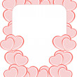 Royalty-Free Stock Photo: Valentine foto frames or card with set of love heart