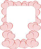 αγίου βαλεντίνου foto πλαίσια ή κάρτα με σύνολο αγάπη καρδιά — Φωτογραφία Αρχείου