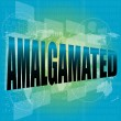 Word amalgamated on digital touch screen — Stock Photo