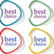 Retro speech bubbles set with best choice message - Stok fotoraf