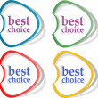 Retro speech bubbles set with best choice message — Stock Photo