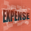 Word expense on digital screen, business concept — Stock Photo #19386009