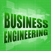 Words business engineering on digital screen, business concept — Stock Photo