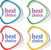 Retro speech bubbles set with best choice message — Stockfoto