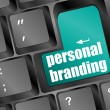 Wording personal branding on computer keyboard - Foto Stock