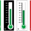 Stock Photo: thermometer set