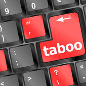 Computer keys spell out the word taboo — Stock Photo