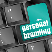 Wording personal branding on computer keyboard — Stock Photo