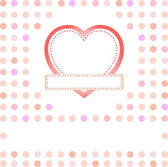 Heart from paper Valentines day card background — Stock Photo