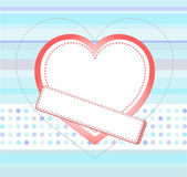 Valentines day card with heart and blank frame — Stock Photo